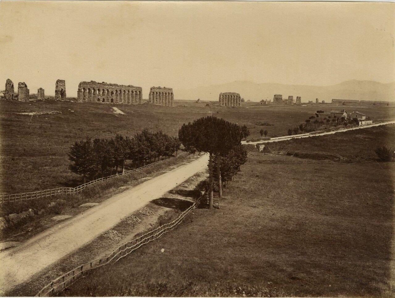 Аппиева дорога и акведук Клавдия. 1870.