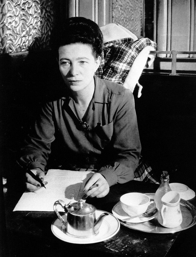 1944. Симона де Бовуар. Кафе де Флор