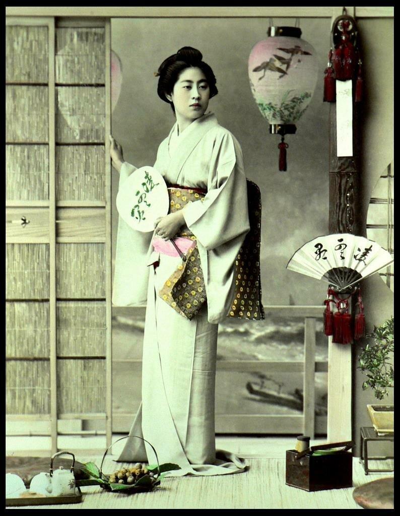 Гейша Тамае, одна из токийских красавиц в 1890-х