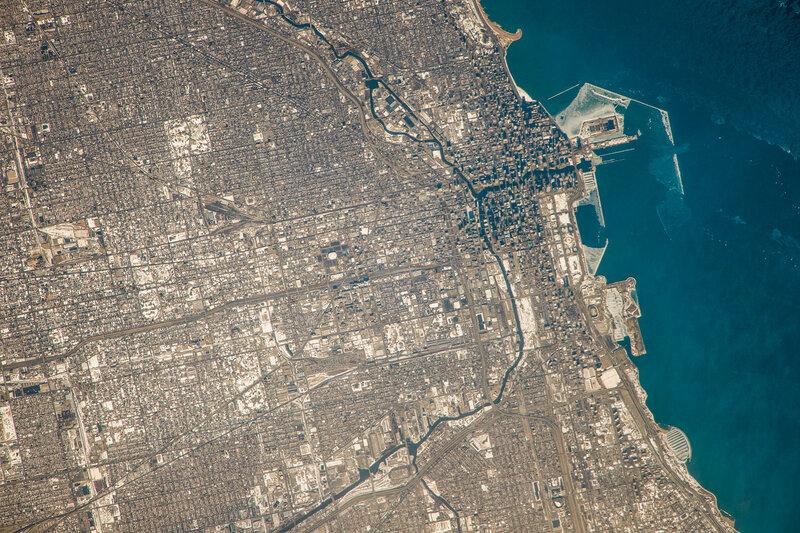 Чикаго из космоса