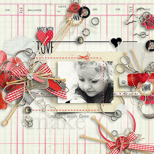 Scrap set Made with love