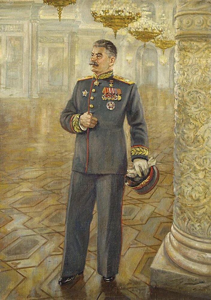 Аладжалов С. И. Портрет И.В. Сталина в парадном мундире.