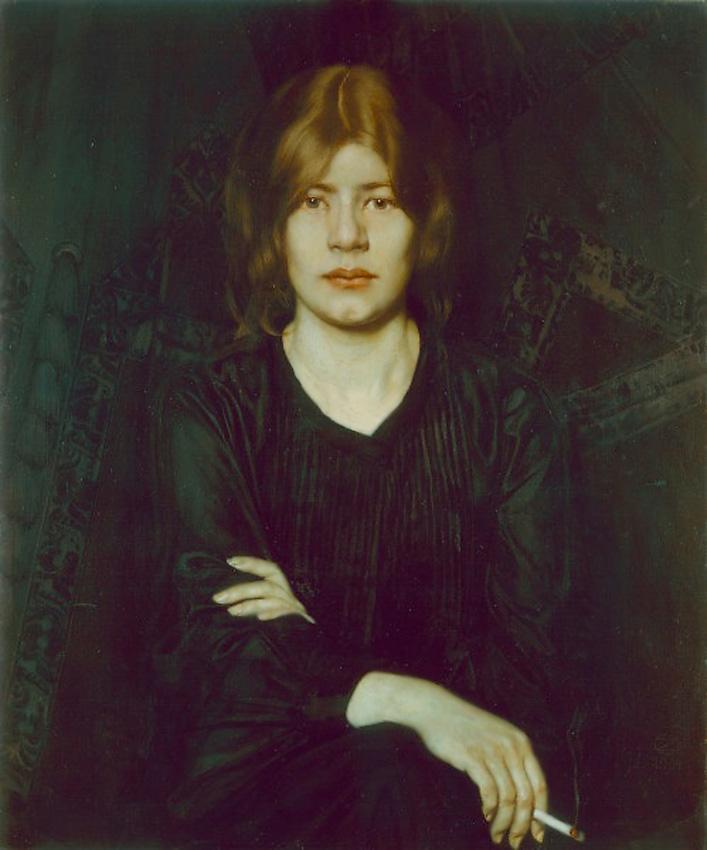 Дама с сигаретой, 1904,Оскар Цвинчер (1870-1916), Германия