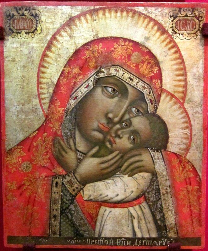Дегтярубская икона Божией Матери. Середина XVIII века.