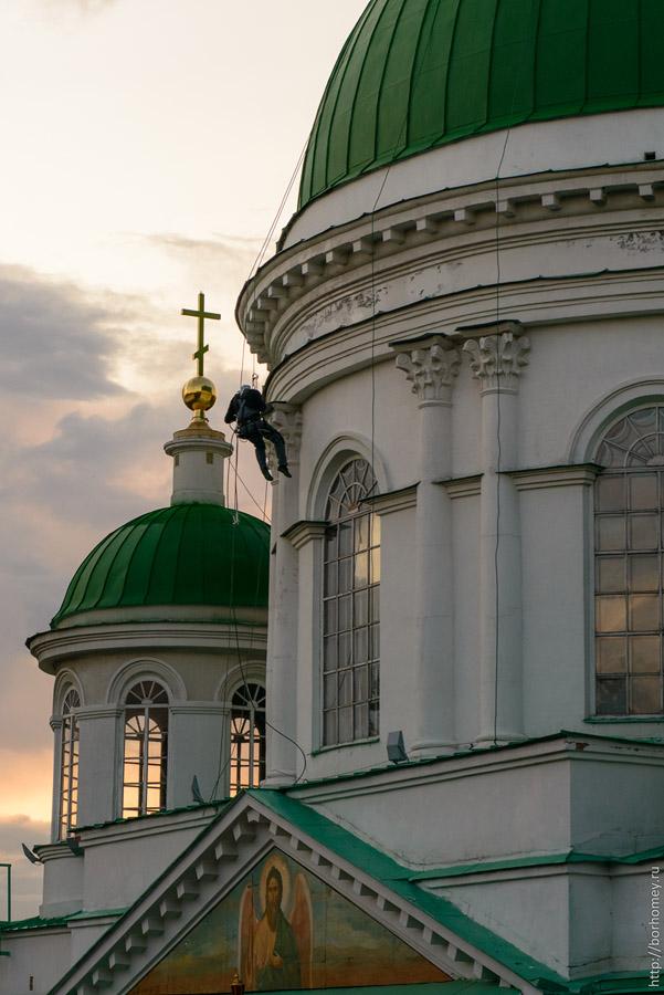 покраска купола храма