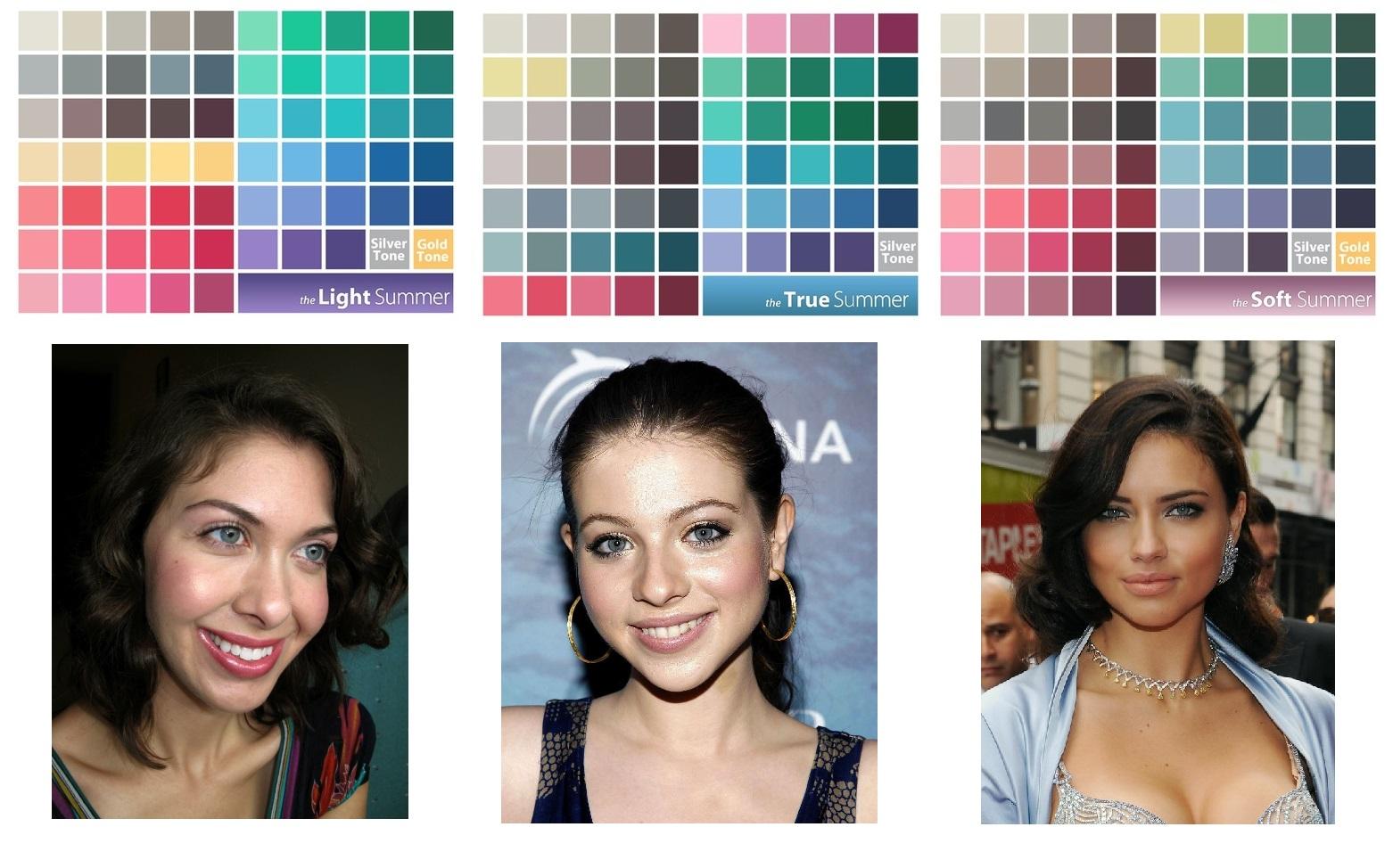 Цвет волос контрастное лето