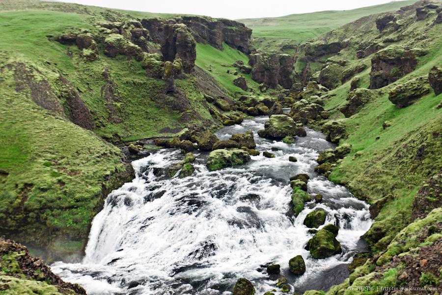 18. Ледники и водопады Эйяфьядлайокудля.