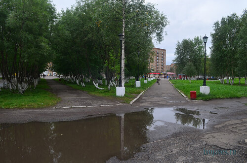 Фото города Инта №7167  Вид от юго-восточного угла Социалистической 3 в сторону Горького 1 24.08.2014_13:08