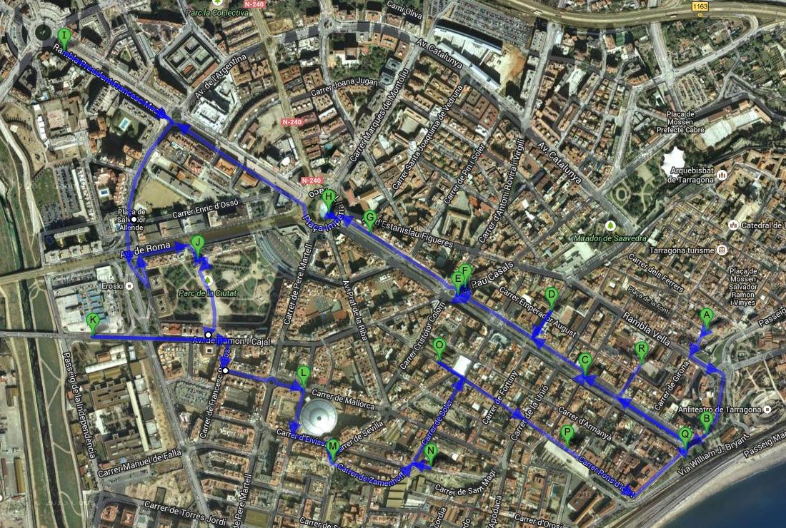 Прогулка по Таррагоне. Бульвары Рамбла и Нижний город