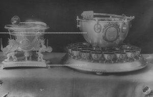 Пуншевые чаши и чарки - подарки от Терского казачьего войска и от Кубанцев к 100-летию  конвоя.