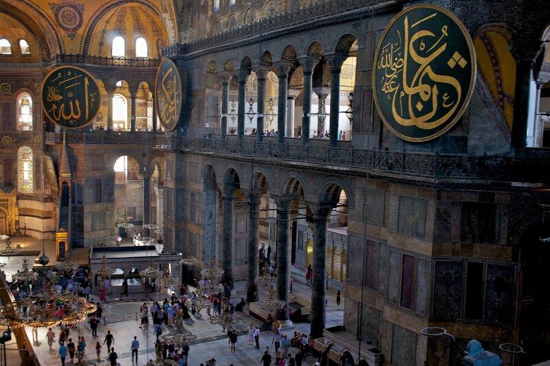Стамбул. В Айя Софии.
