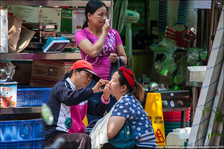 Уличная депиляция в Китае