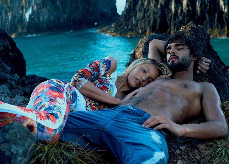 Марлон Тейшейра и Кэндис Свейнпол / Candice Swanepoel & Marlon Teixeira for Osmoze summer 2015