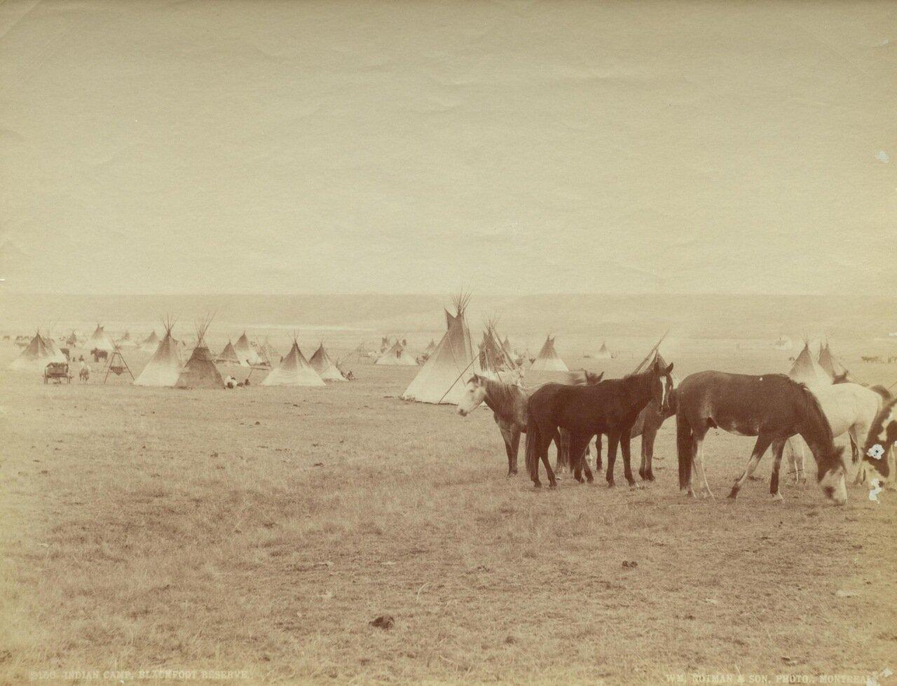 Лагерь индейцев в резервации «черноногих»