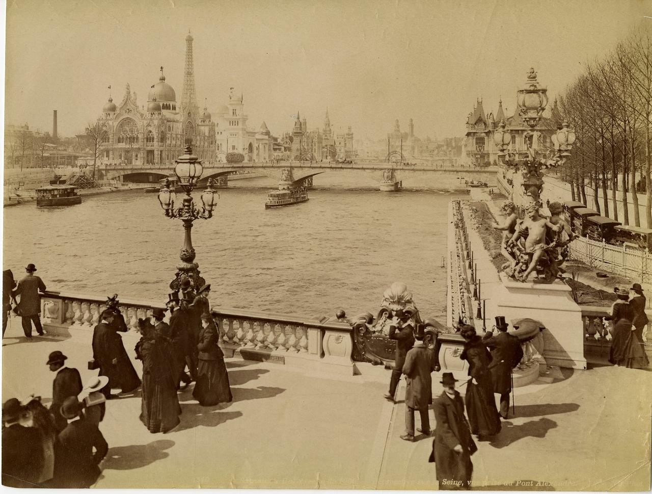Вид с Сены на мост Александра III