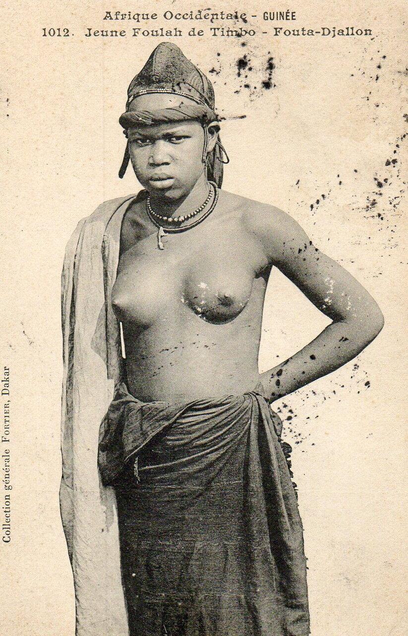 1012. Гвинея.  Девушка народа фула