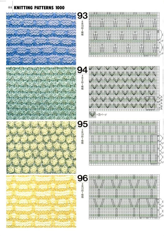 Вязание схема вязания узора соты