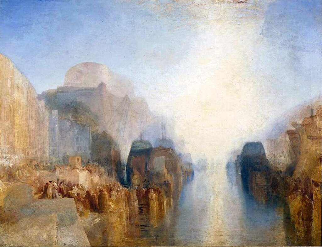 The Harbour of Brest: The Quayside and ChГўteau circa 1826-8 by Joseph Mallord William Turner 1775-1851