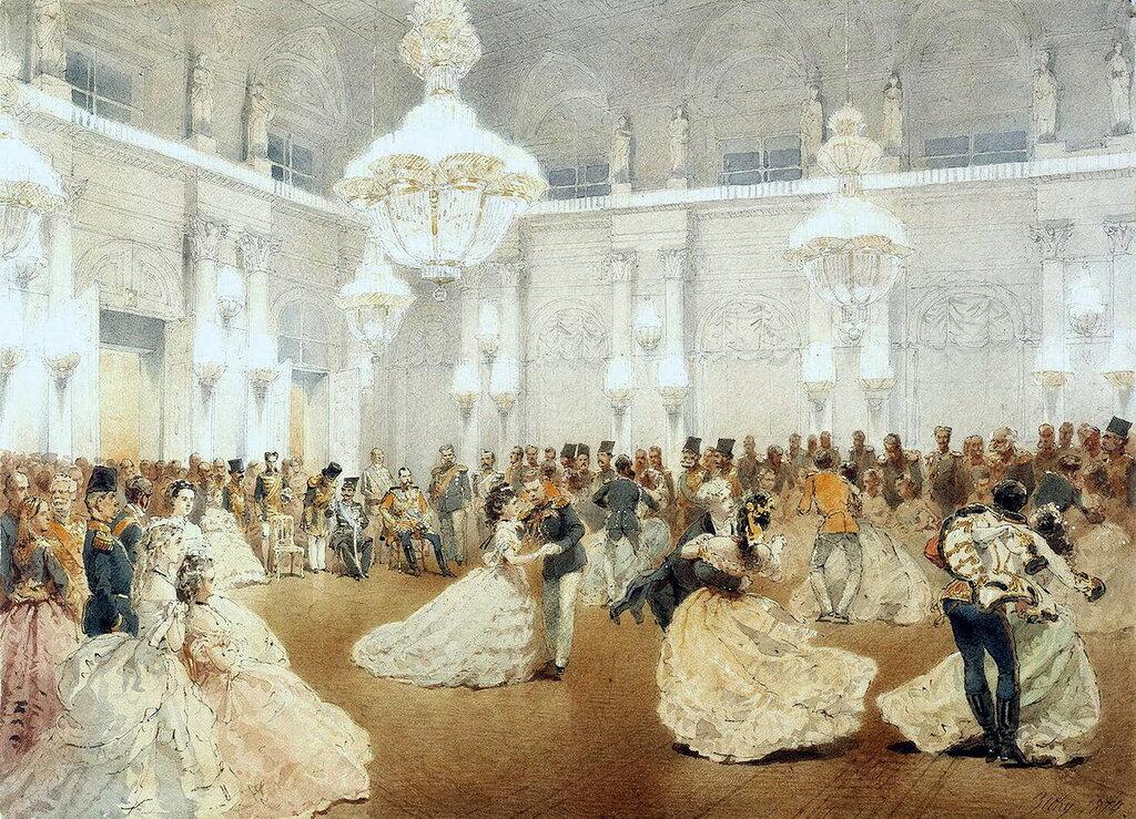 часть 5 Эрмитаж: Зичи, Михай - Бал в Концертном зале Зимнего дворца во время официального визита шаха Насир-ад-Дина в мае 1873 года