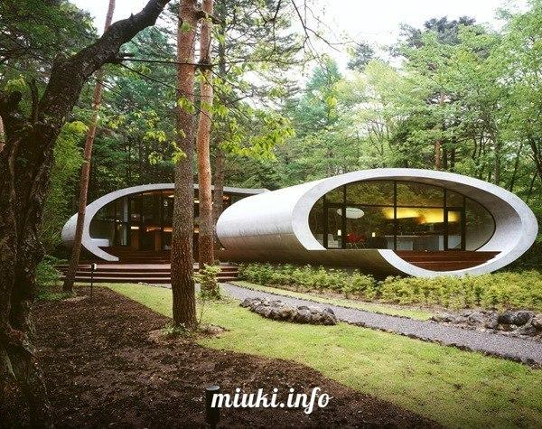 Shell Residence от ARTechnic. Китасаку, префектура Нагано, Япония. Дом-ракушка