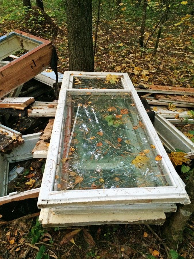 фотографии мусора в лесу