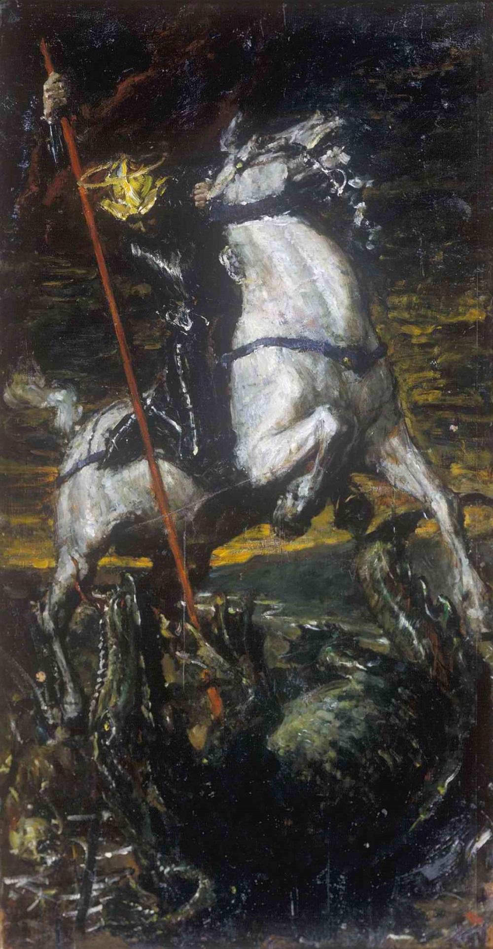1885 Георгий Победоносец - Валентин Александрович Серов. 1885. Холст, масло. 136х70.jpg