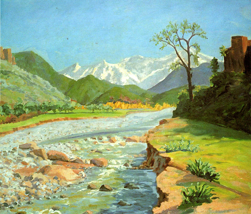 1948 Долина Оурика и Атласские горы.jpg
