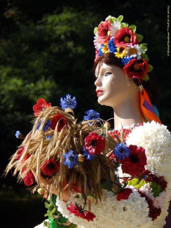 Выставка цветов «Единая Украина», приуроченная к годовщине Независимости Украины.