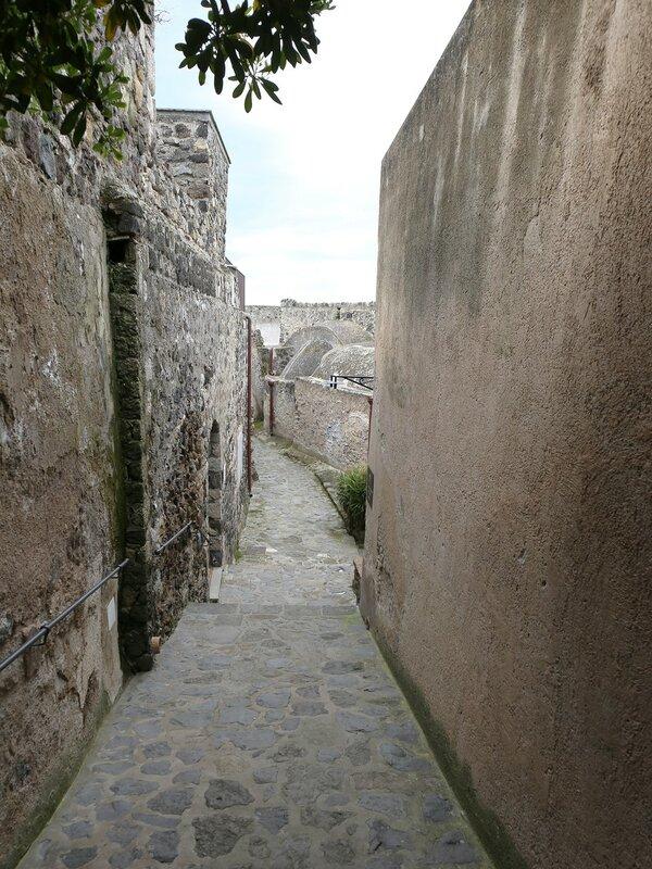 Ischia. The Aragonese castle. House of the Sun (Casa del Sole)