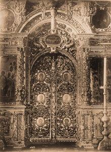 Вид на царские врата в церкви Воскресения Словущего в Кремле. Москва г.