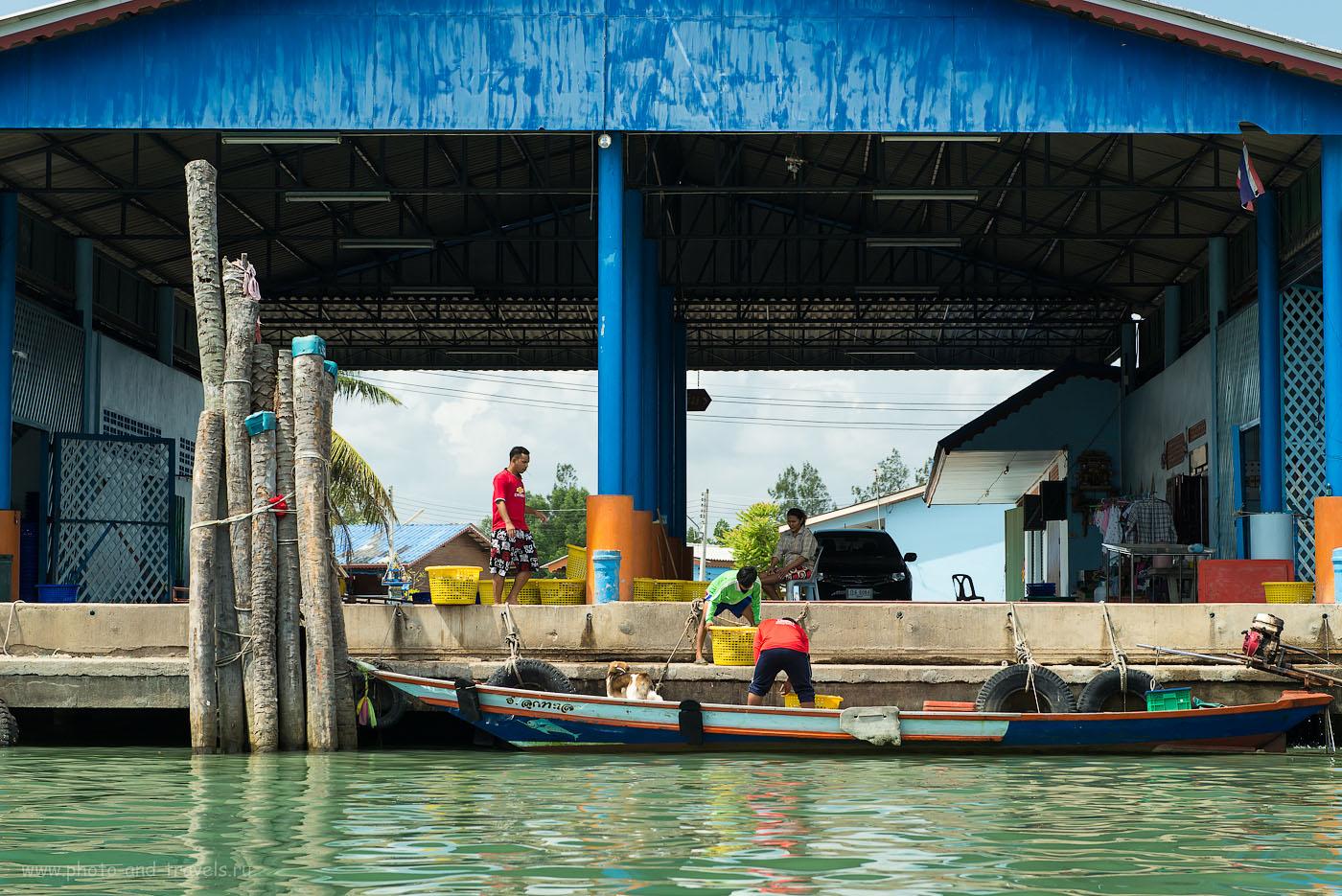 Фото 24. Погрузочные работы на реке. Экскурсия в рыбацкую деревню (320, 70, 8.0, 1/250)