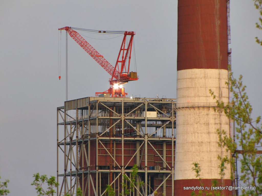 Фото строительства нового энергоблока на Троицкой ГРЭС (Челябинская область)