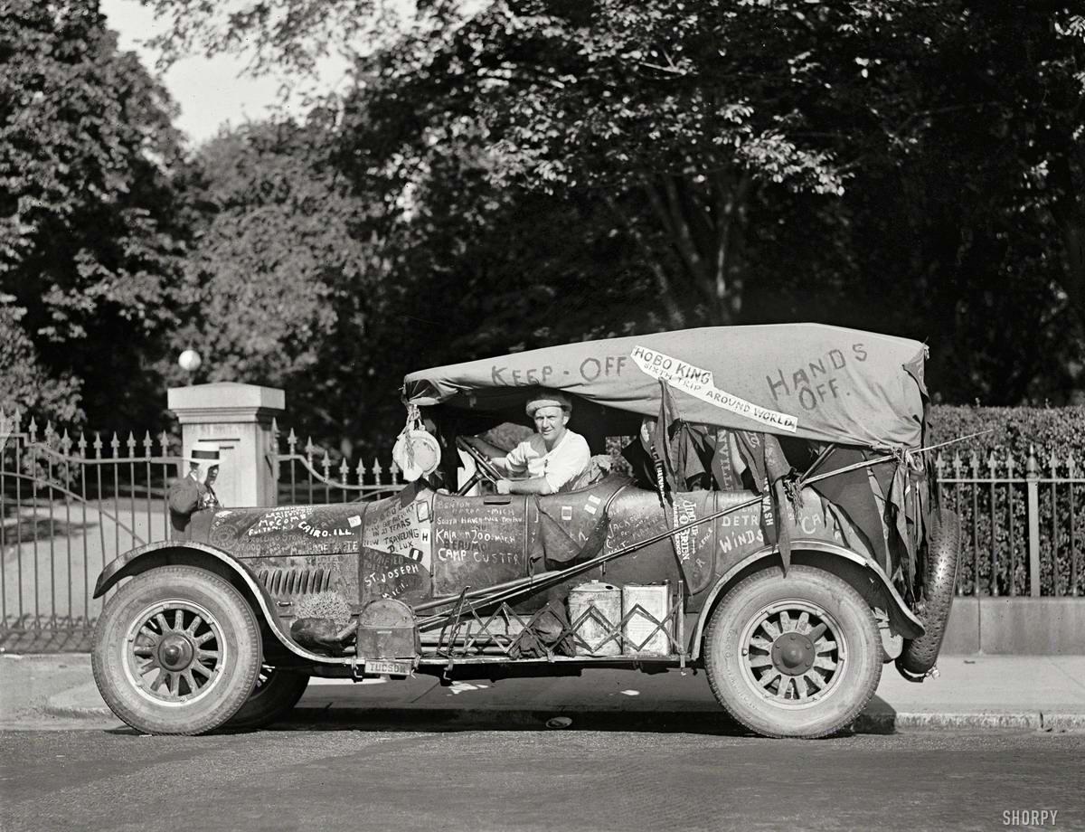 Лоскутный автомобиль Джеффа Дэвиса по прозвищу Король Бродяг (Вашингтон, 1924 год)