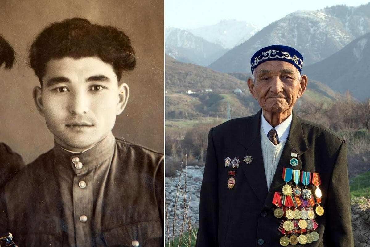 15 героев Великой Отечественной Войны из 15 республик Советского Союза - Куставлет Тазыбаев, уроженец Казахстана, 90 лет