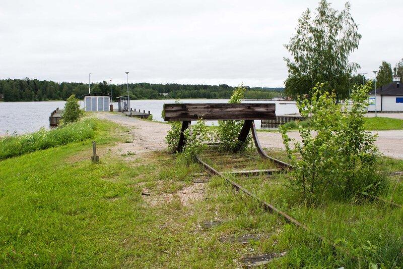 станция по перегрузке леса на паром на озере Кейтеле (Keitele) в Суолахти (Suolahti)