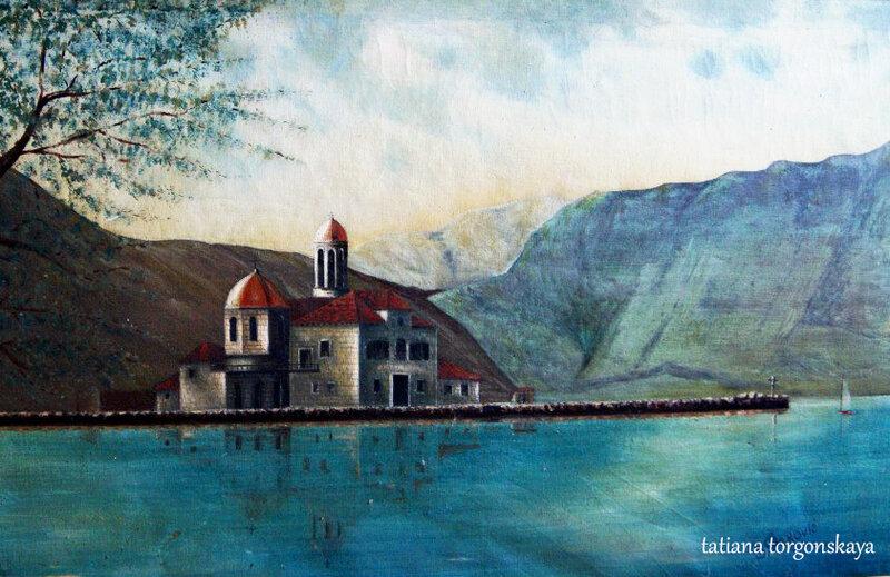 Остров Госпа од Шкрпела в живописи