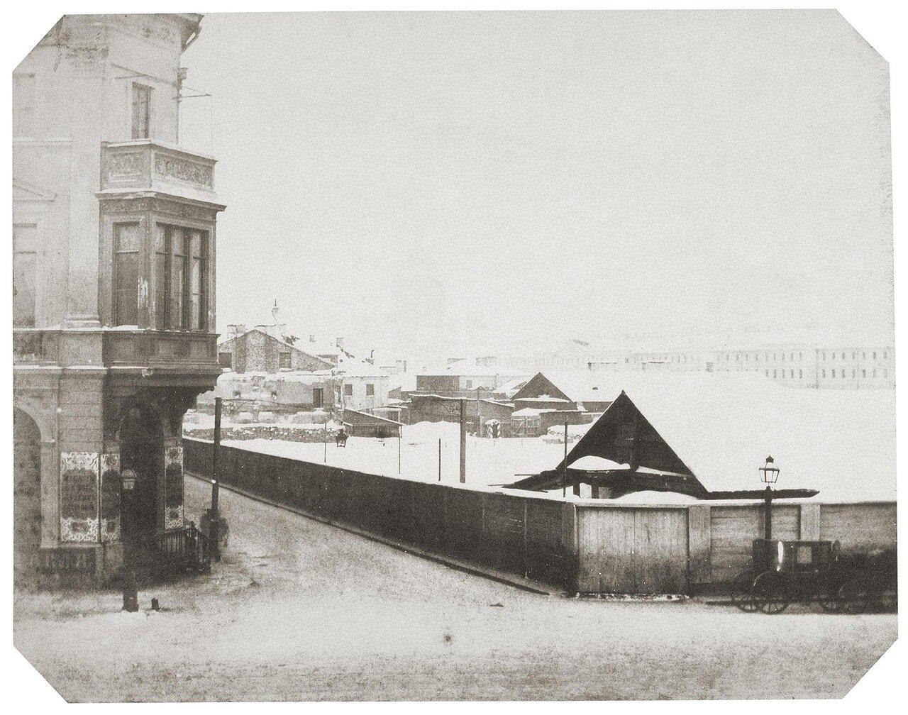 Зимний вид на набережной Невы. 1853