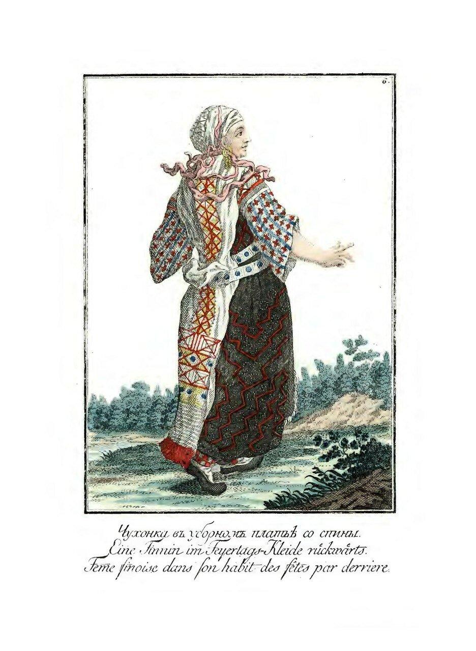 06. Чухонка в уборном платке со спины