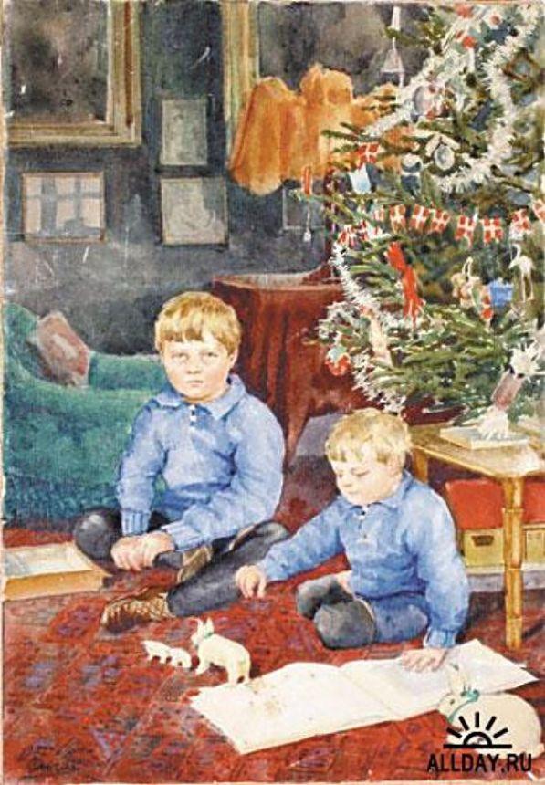 Дети во дворце Амалиенборга. Тихон и Гурий