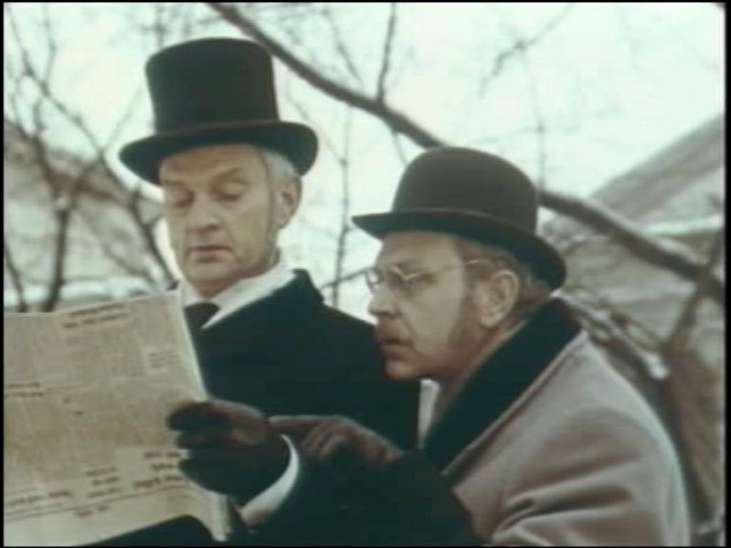 1979 Голубой карбункул. В роли Холмса Альгимантас Масюлис.jpg