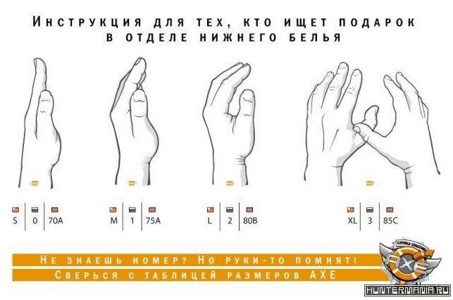 Как определить размер груди на ощупь