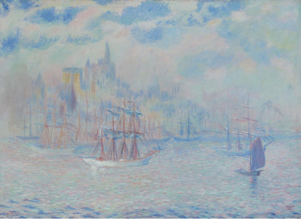 Theodore Earl Butler - Ships in the New York Harbor, 1907.jpeg