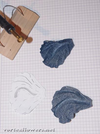 как сделать мак из ткани