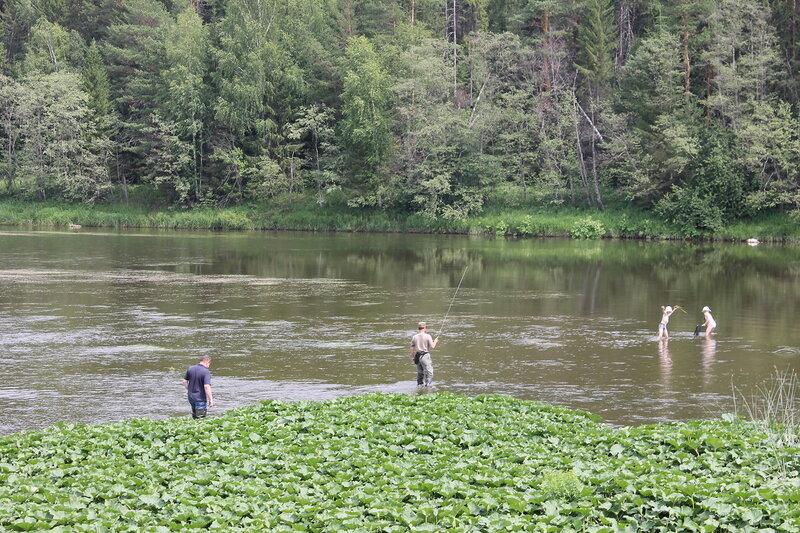 Рыбалка в деревне Мартьяново.
