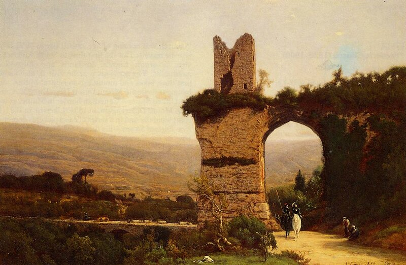 Inness George. The Commencement of the Galleria aka Rome the Appian Way