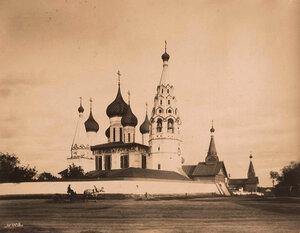 Вид на церковь Николы Мокрого (постройка 1665-1672 гг.). Ярославль г.