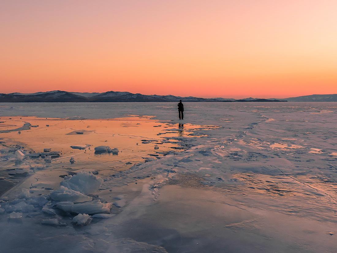 Байкал, пейзаж, закат,