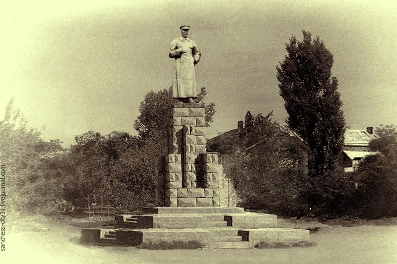 Памятник И.В.Сталину в Белгороде 1940-1941 фотореконструкция Sanchess (с)