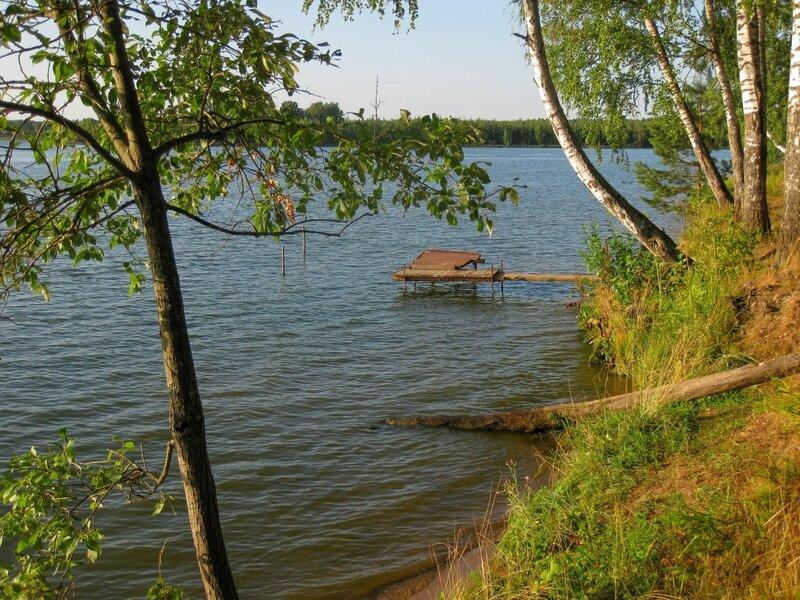 Мостки для купания, Пяловское водохранилище