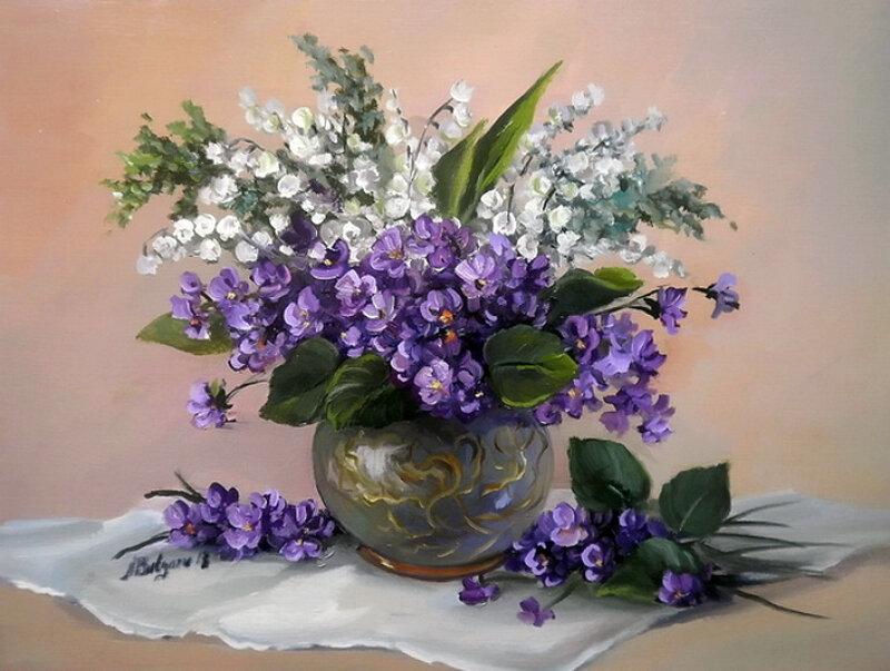 Букет весенних солнечных цветов твою улыбку мне напоминает!